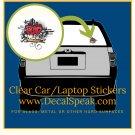 Rap Music Clear Car/Laptop Sticker