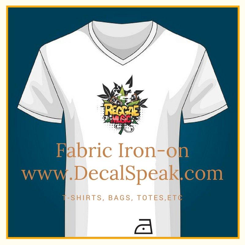 Reggae Music Fabric Iron-on