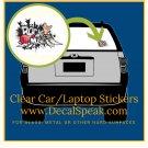 Rock Music Clear Car/Laptop Sticker