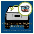 Techno Music Clear Car/Laptop Sticker