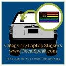 LGBTQ Blk Grunge Flag Clear Car/Laptop Sticker
