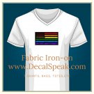 LGBTQ Blk Grunge Flag Fabric Iron On