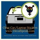 Multi-Sexual Clear Car/Laptop Sticker