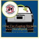 Allergy Alert No Latex Please Clear Car/Laptop Sticker