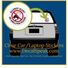 Allergy Alert No Shellfish Please Clear Car/Laptop Sticker