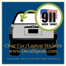 911 Never Forget Clear Car/Laptop Sticker