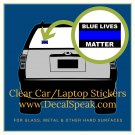 Blue Lives Matter Clear Car/Laptop Sticker