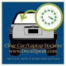 420 Clock Clear Car/Laptop Sticker