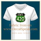 420 Clock Fabric Iron On