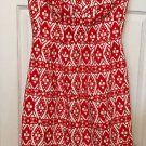 J. Crew Tribal Print Strapless Dress Size 6 Southwest Red & White Never Worn 6