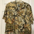 "TOMMY BAHAMA SAFARI BLOUSE CAMP SHIRT TOP BOXY SIZE S BUST 38"" BUTTON DOWN WOMEN"