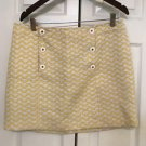 Vineyard Vines  Skirt Size 12 Yellow & White   Pristine Condition MINI SKIRT 12