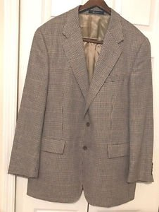Ralph Lauren 44R Mens Nova Check Silk/Wool  Blazer Sport Coat Jacket Chest 46