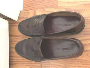 BOSTONIAN PENNY LOAFERS 9 D Burgundy  Leather Shoes Mens Pristine  9D
