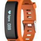 Orange Smart Watch OLED Touch Screen Waterproof Health Wristband
