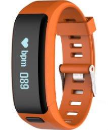 Orange Smart Watch OLED Touch Screen Waterproof Health Wristband