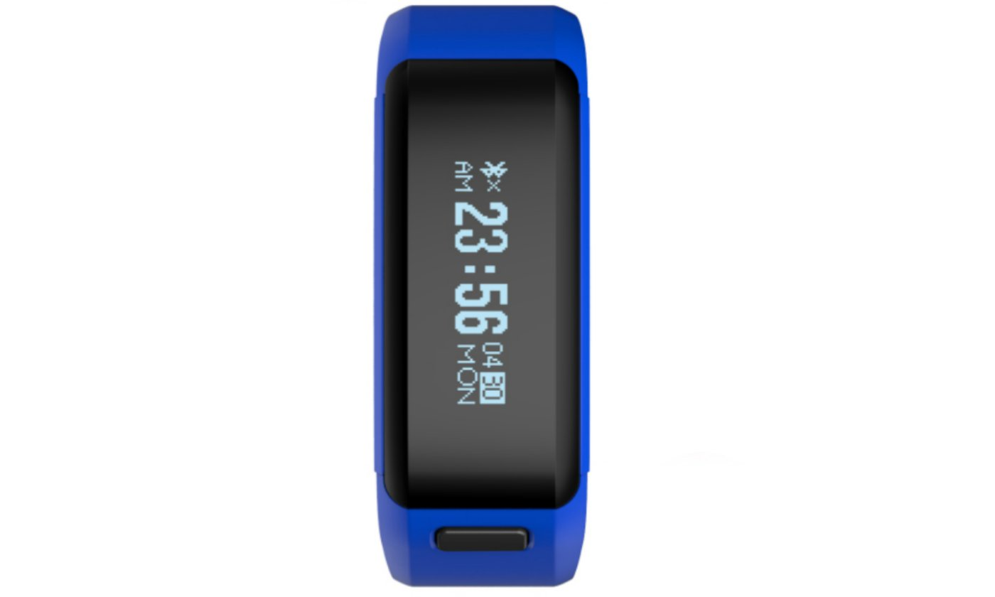 Blue Smart Watch OLED Touch Screen Waterproof Health Wristband