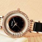 Kimio Rolling Crystal Diamond Gold Bracelet Women's Fashion Quartz-Watch
