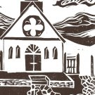 The Church - linoleum block print - Kathe Welch