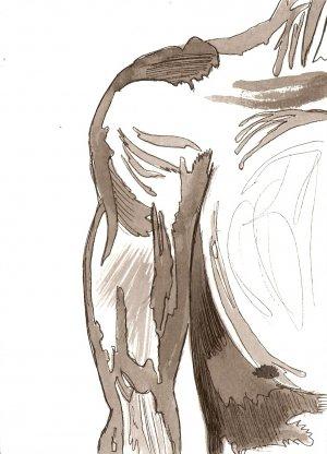 Musular Arms - Original Drawing - Mark Knot