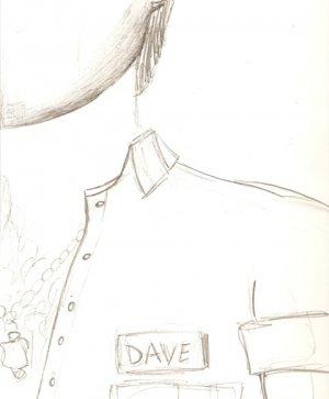 Dave - Original Drawing - Study for block print - Mark Knot