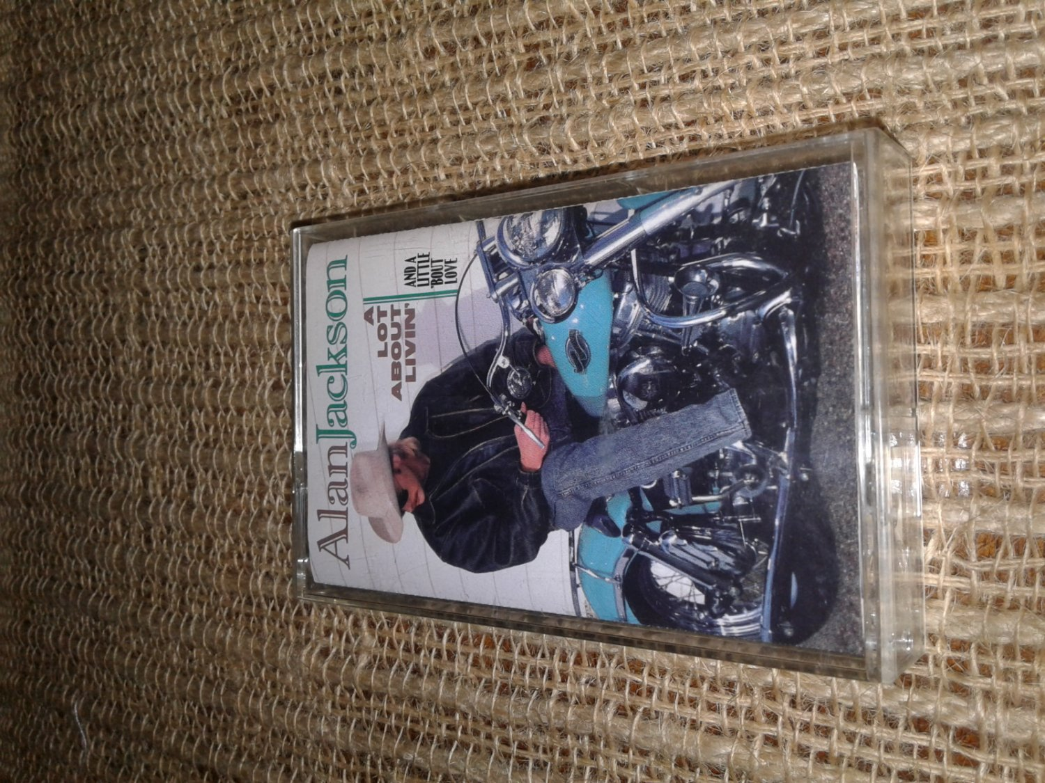 1992 Alan Jackson, a lot about livin' and a little 'bout love, cassette tape