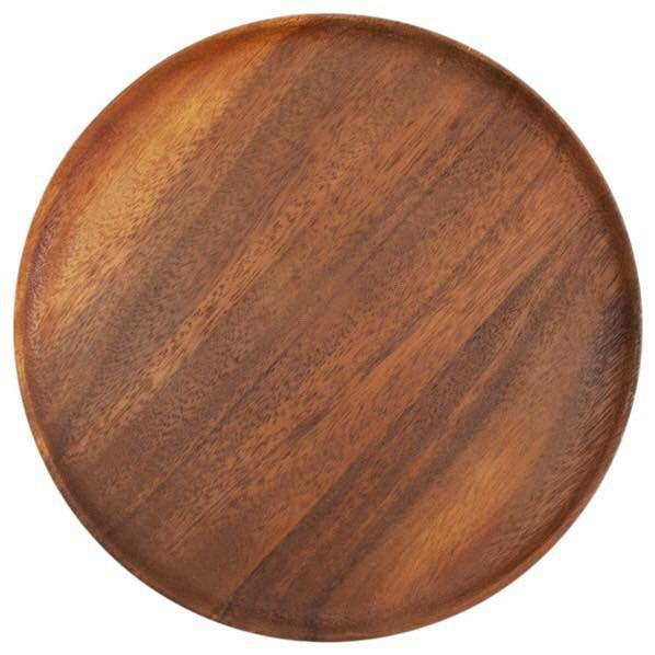 Acacia Wood Plates : Acacia wood round plate inches cm