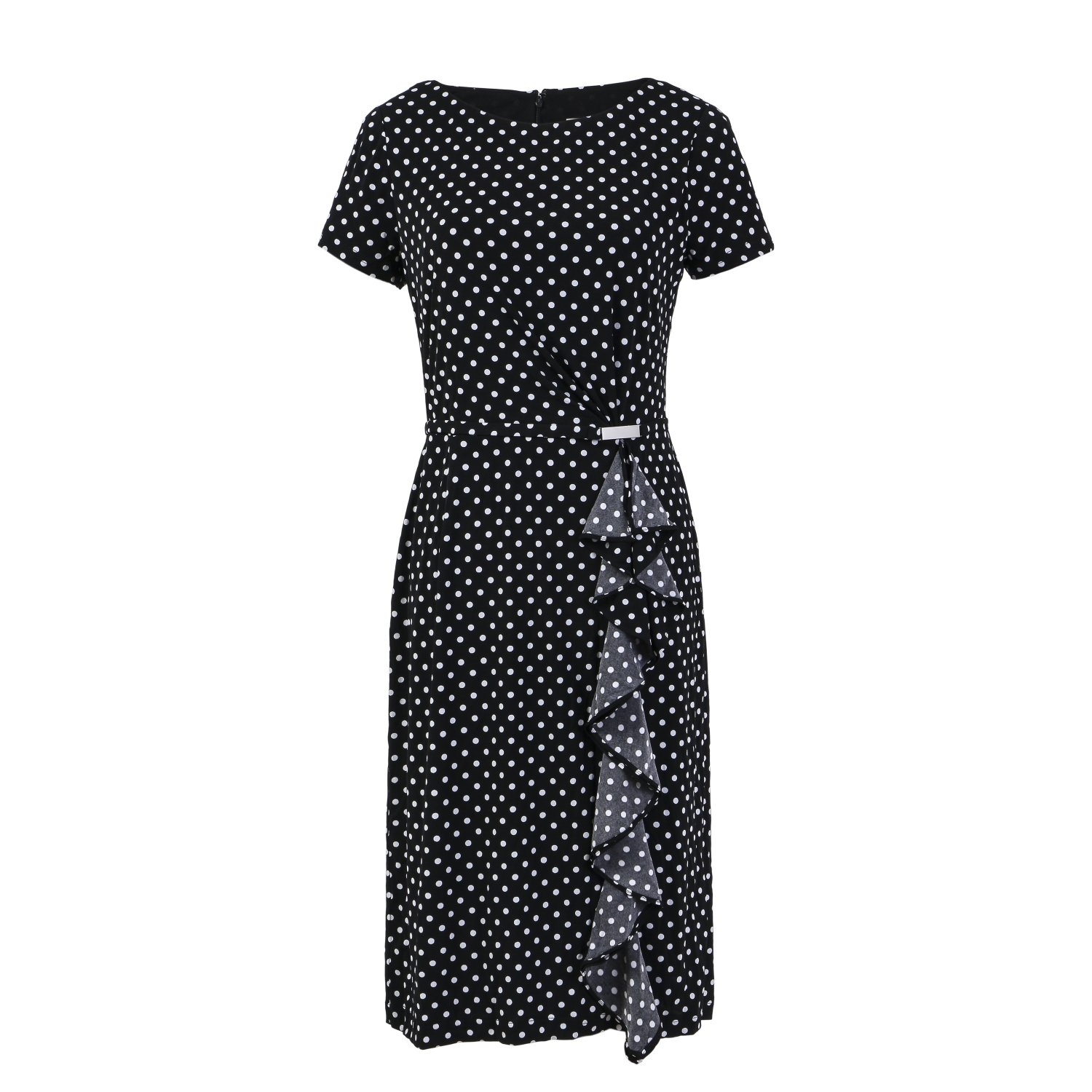 2 FOR 1 CLOTHES Printed knit jersey dress