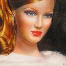 Portrait of a XIX red woman
