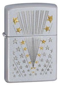 Zippo Lighter 28277 Flag Stain Chrome 041689282776