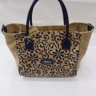 LADIES CORK TOTE BAG WOMEN´S CORK NATURAL GENUINE PORTUGUESE BLUE