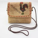 6.30``MEDIUM SHOULDER BAG PURSE WOMEN´S CORK NATURAL GENUINE PORTUGUESE COCK