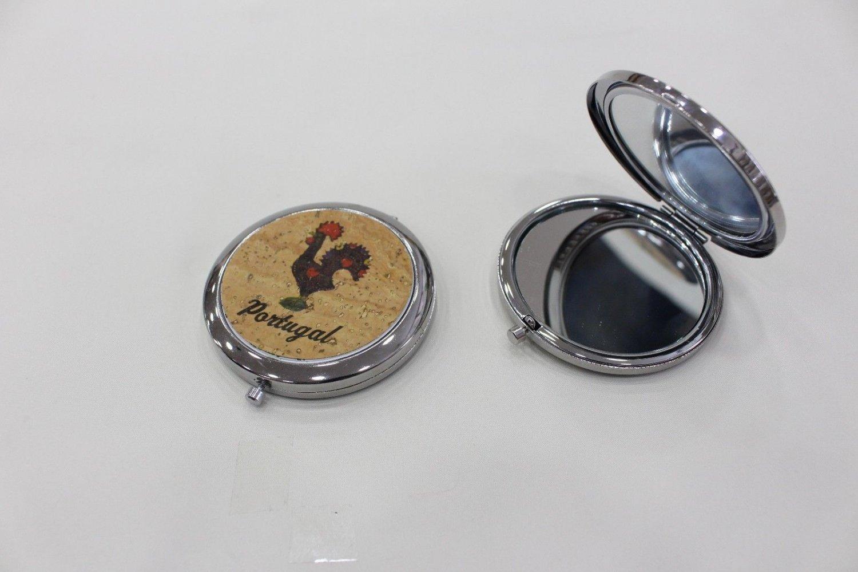 Pocket Make Up Double Mirror Box Purse Cosmetic Souvenir COCK