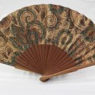 Hand Fan Girl Lady Women´S Natural Cork cornucopias Genuine Portuguese
