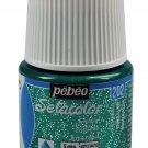 PEBEO SETACOLOR LIGHT FABRIC LIGHT TEXTURE PAINT COLOURS-GLITTER ESMERALD 202