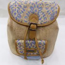 MEDIUM BACKPACK PURSE WOMEN´S CORK NATURAL GENUINE PORTUGUESE
