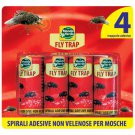Fly trap Spirals Adhesive not poisonous x flies blister 4