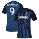 Ibrahimovic #9 Men's LA Galaxy Away Soccer Jersey 2019 Replica Soccer Kit Blue