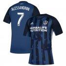 Alessandrini #7 Men's LA Galaxy Away Soccer Jersey 2019 Replica Soccer Kit Blue
