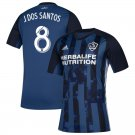 J.dos Santos #8 Men's LA Galaxy Away Soccer Jersey 2019 Replica Soccer Kit Blue