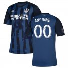 Custom Men's LA Galaxy Away Soccer Jersey 2019 Personalized Name And Number