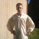 Mens Drop Yoke (XS, S, or M) White or Un-bleached Renaissance Primitive Pioneer