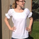 Womens (xs, s, m, or l) Renaissance Faire short sleeve chemise blouse