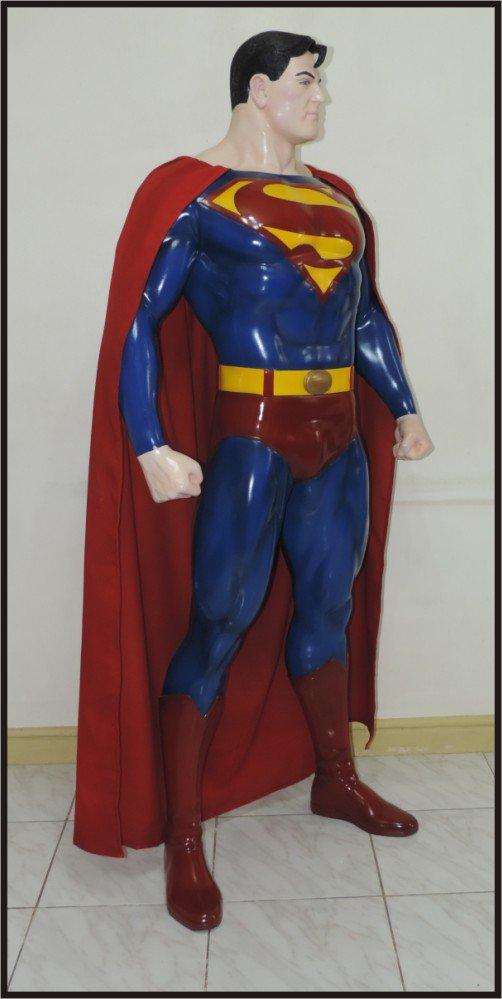Custom Made Life Size Alex Ross Superman Statue Prop