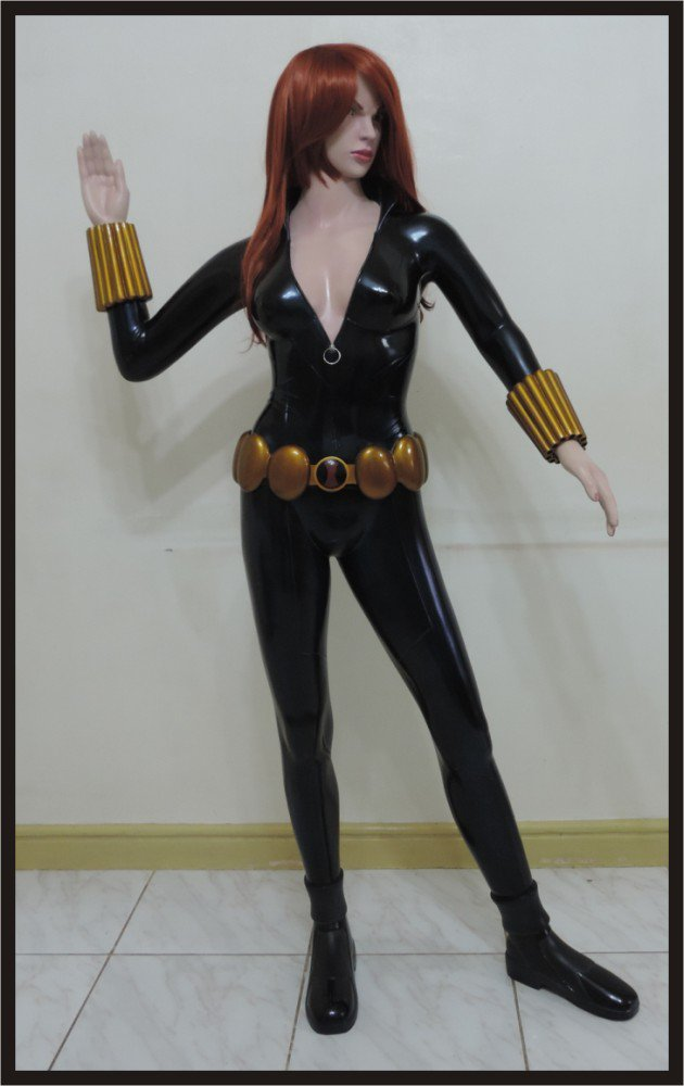 SALE: Custom Made Life Size Black Widow Superhero Statue Prop (Edition 1)