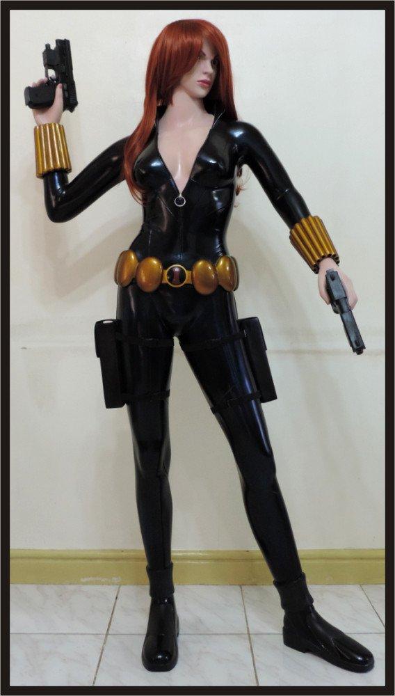 Custom Made Life Size Black Widow Superhero Statue Prop (Edition 2)