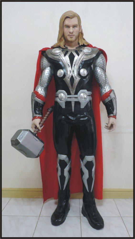 Custom Made Life Size Thor 2011 Superhero Statue Prop