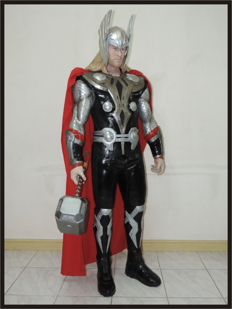 Custom Made Life Size Thor 2011 with Helmet Superhero Statue Prop