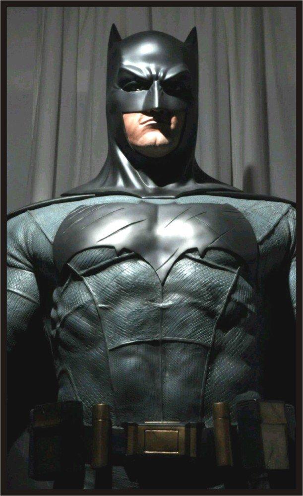 Custom Made Life Size Ben Aflec Batman (vs Superman) Superhero Statue Prop