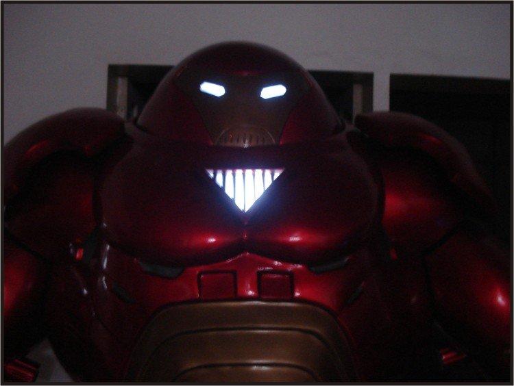 Custom Made Life Size Hulk Buster Superhero Statue Prop